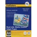 Фотобумага FullColors матовая 220гр двухсторонняя матовая, 50 листов